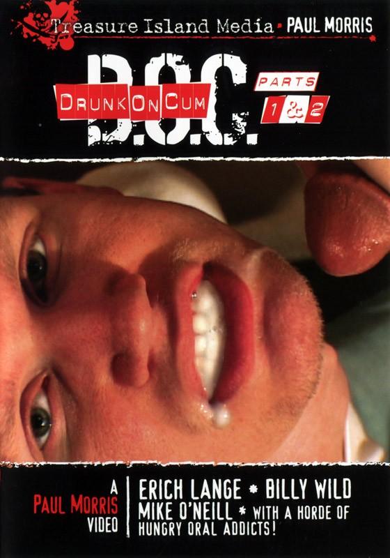 Drunk on Cum 1 & 2 DVD - Front