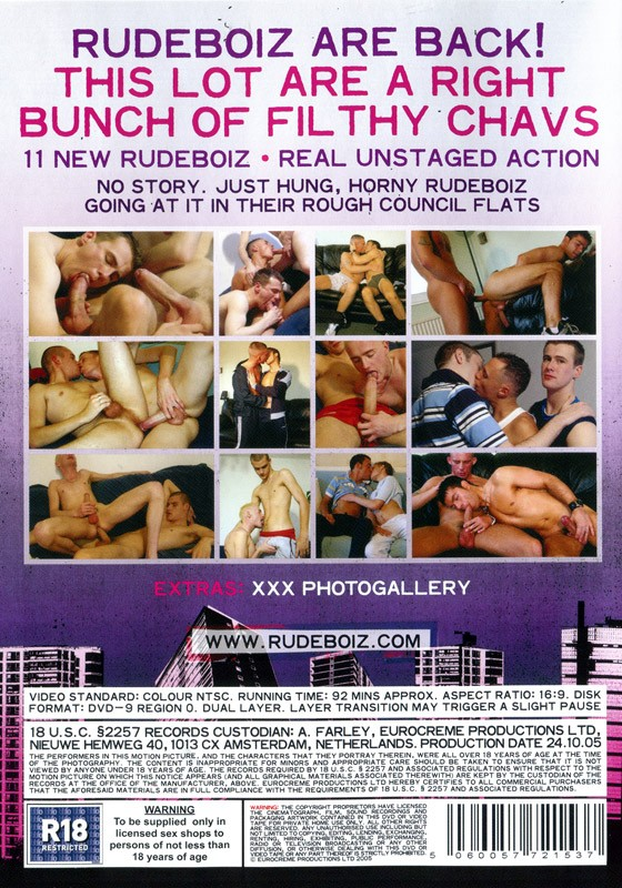 Rudeboiz 3: Filthy Chavs DVD - Back