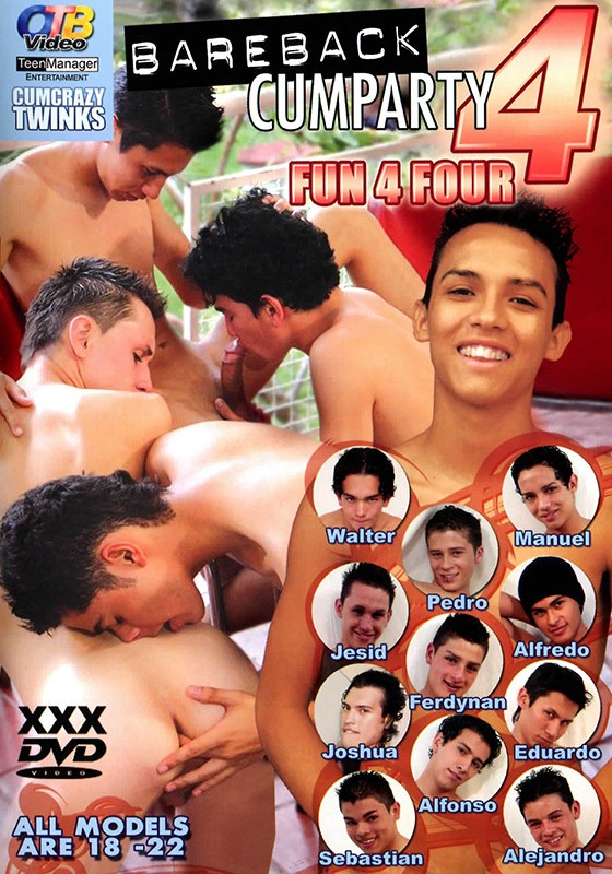 Bareback Cumparty 4 DVD - Front