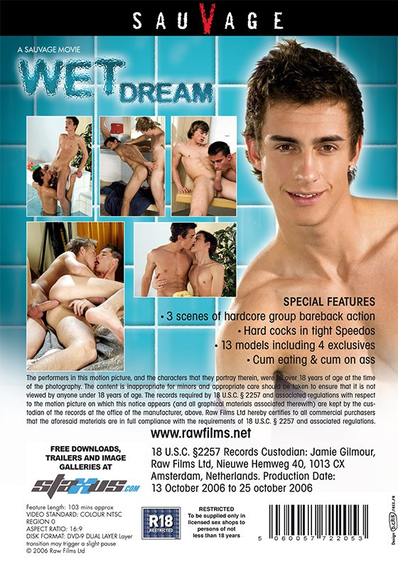Wet Dream DVD - Back