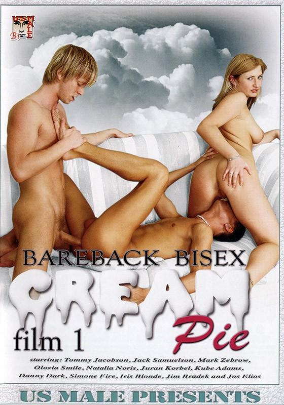 Bareback Bisex Cream Pie 1 DVD - Front