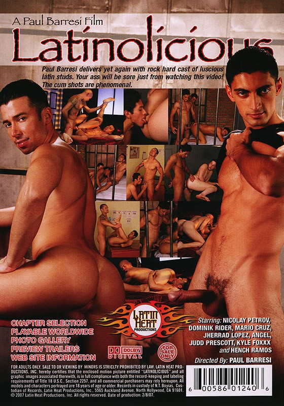 Latinolicious DVD - Back