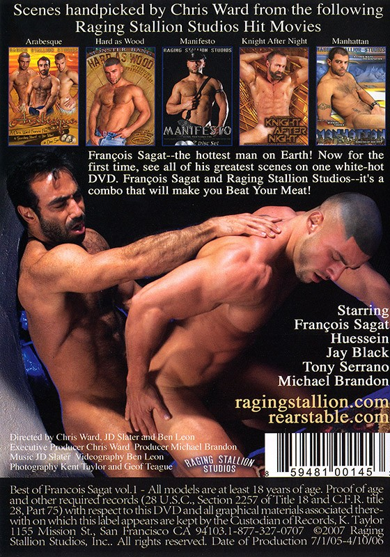 The Best of François Sagat DVD - Back