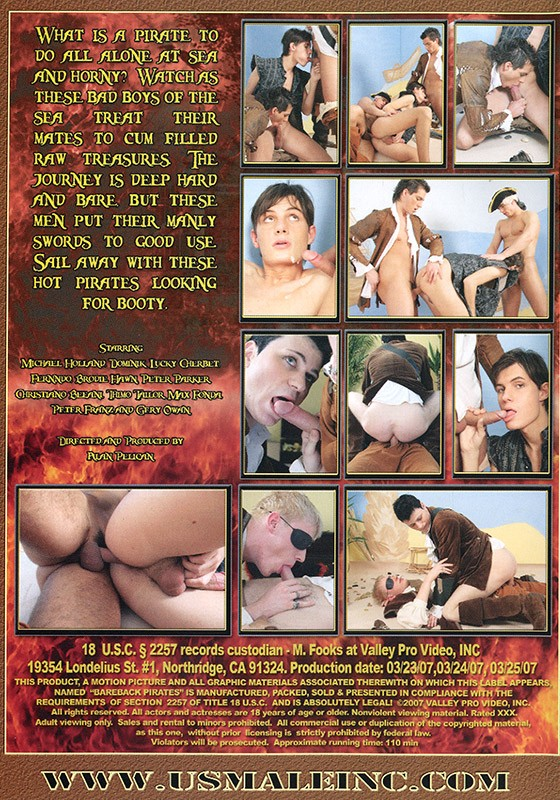 Bareback Pirates DVD - Back