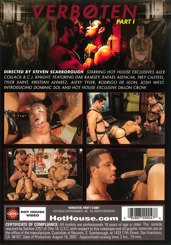 Verboten part 1 DVD - Back