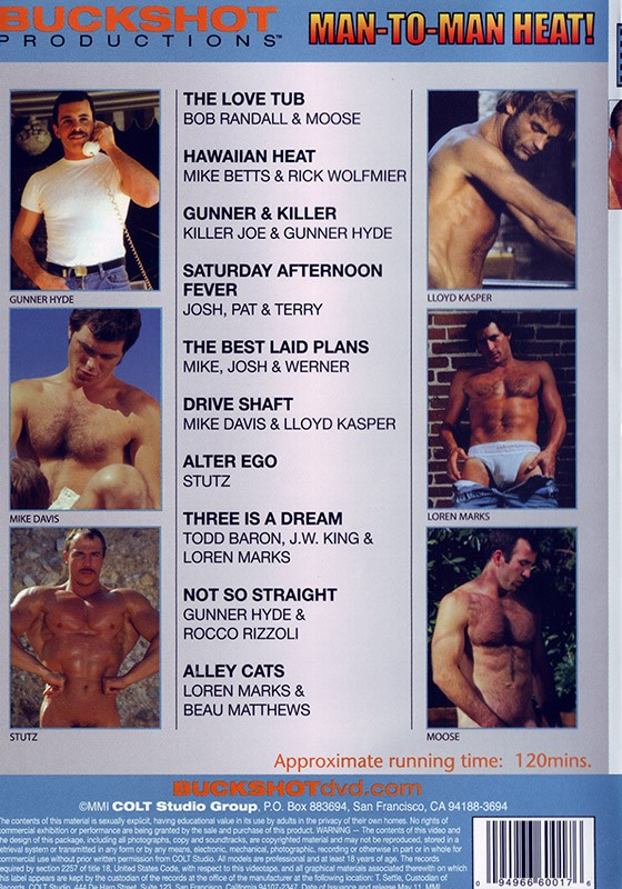 Man to Man Heat DVD - Back