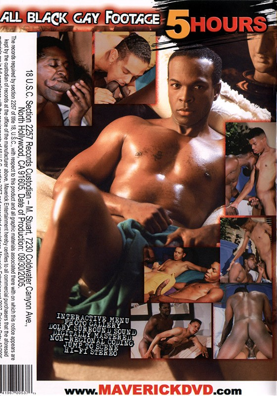 All Black Gay Footage DVD - Back