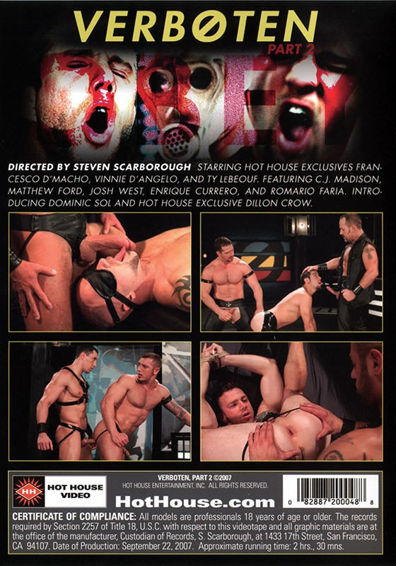 Verboten part 2 DVD - Back