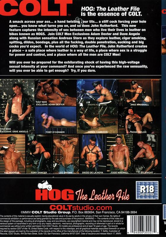 HOG: The Leather File DVD - Back