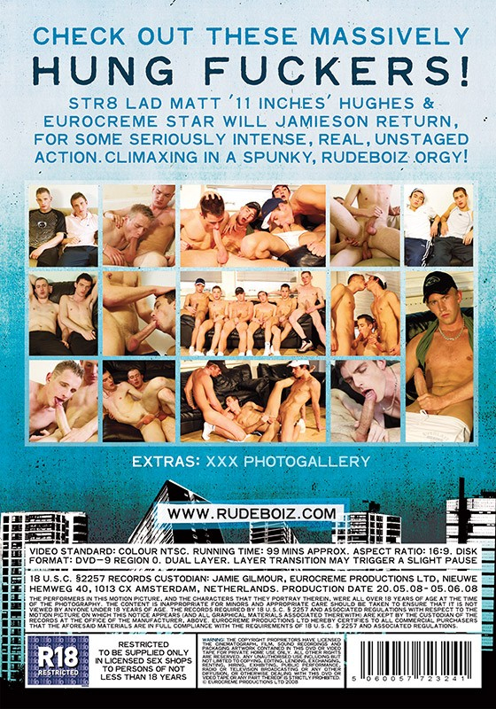 Rudeboiz 10: Hung Fuckers DVD - Back