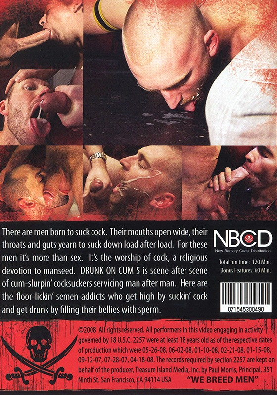 Drunk on Cum 5 DVD - Back