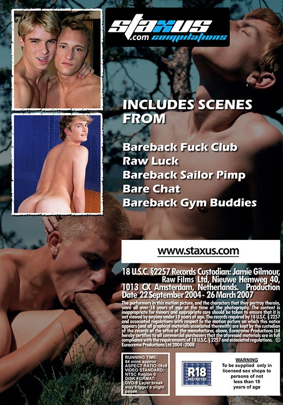 Staxus Collection: Bareback Blonds DVD - Back
