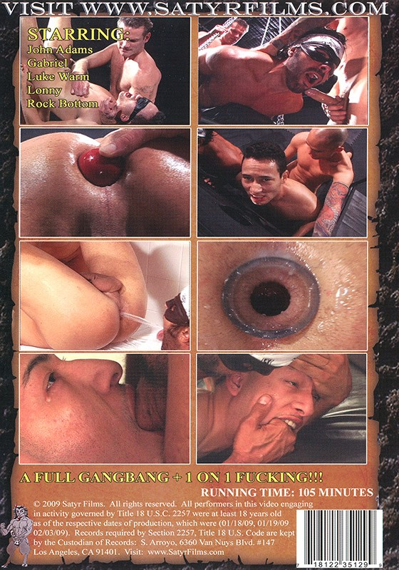 Sadistic Satyrs DVD - Back