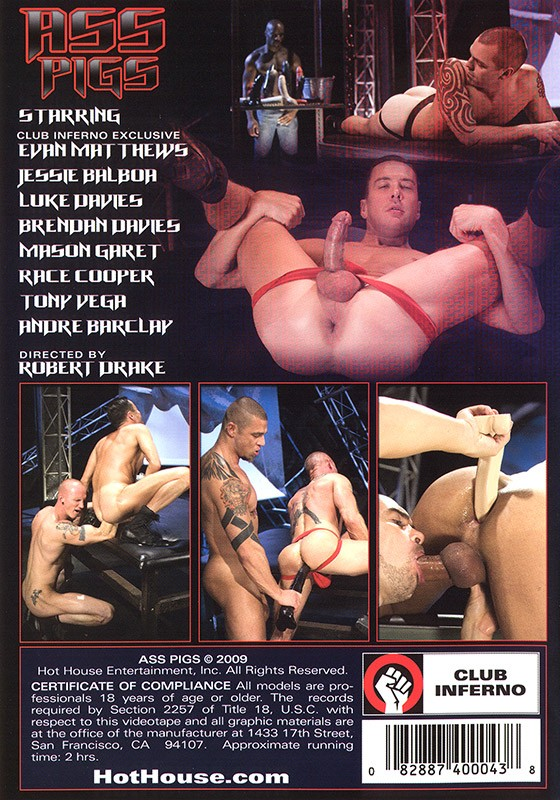 Ass Pigs DVD - Back