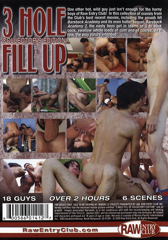 3 Hole Fill Up: Collector's Edition DVD - Back