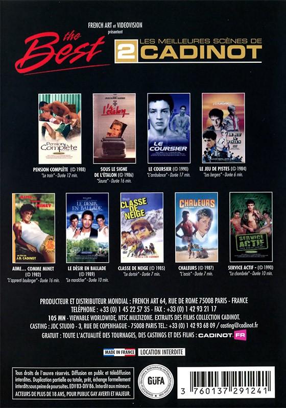Cadinot The Best 2 DVD - Back