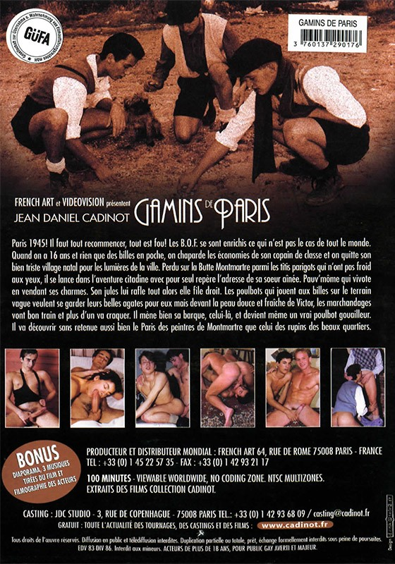 Gamins de Paris DVD - Back