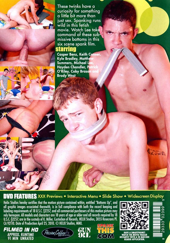 Bottoms Up DVD - Back