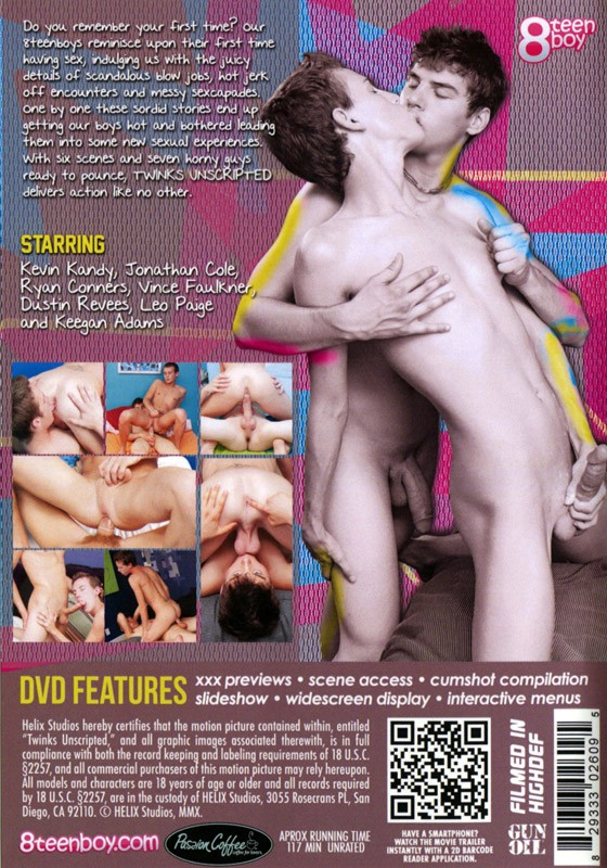 Twinks Unscripted DVD - Back