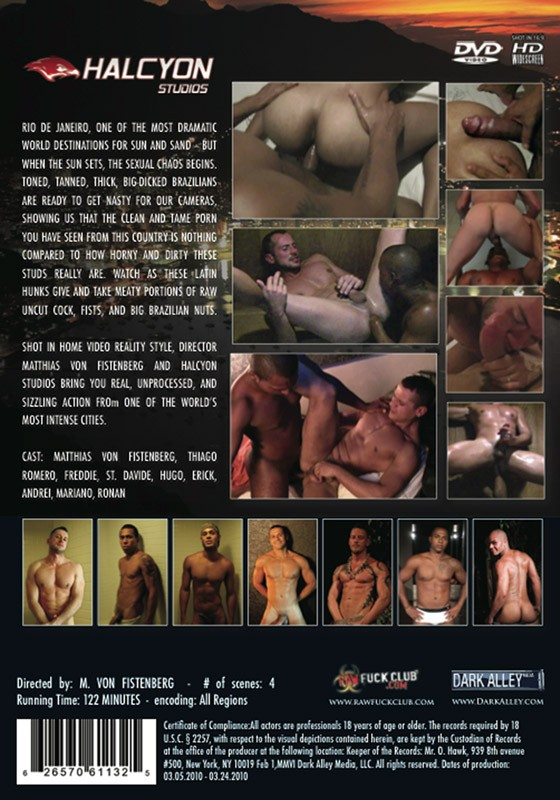 Rio After Dark (Director's Cut) DVD - Back