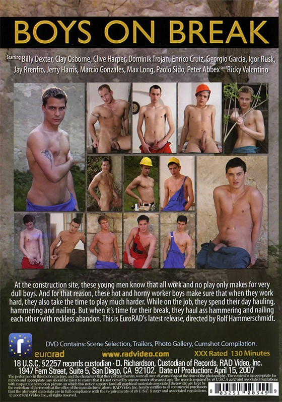 Boys On Break DVD - Back