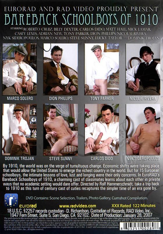 Bareback Schoolboys of 1910 DVD No Covers - Back