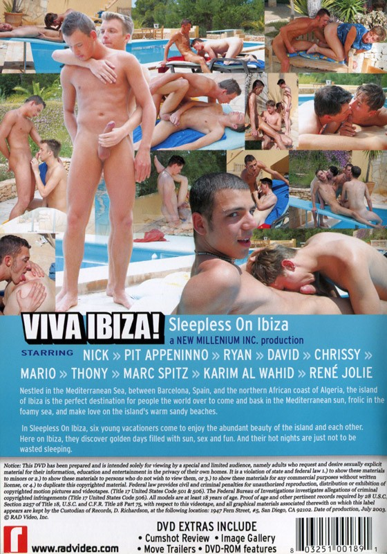 Viva Ibiza! 1: Sleepless On Ibiza DVD - Back