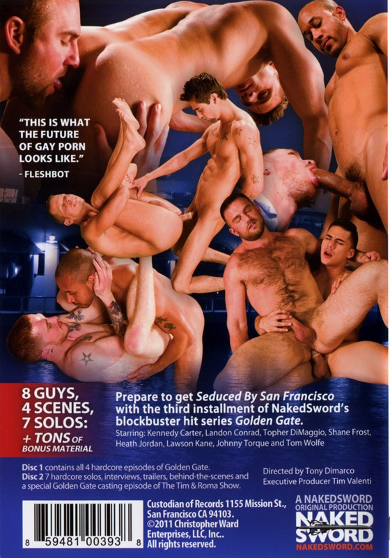 Golden Gate: Seduced By San Francisco DVD - Back
