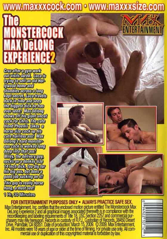 The Monstercock Max DeLong Experience 2 DVD - Back