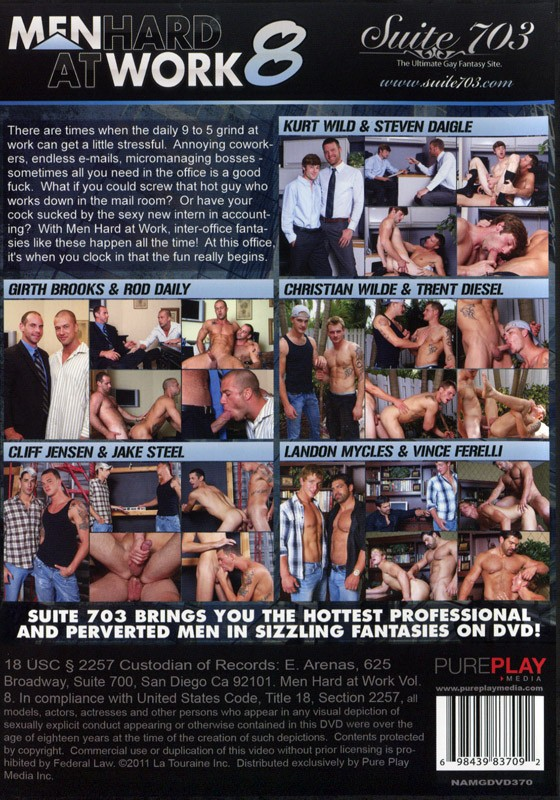 Men Hard At Work 8 DVD - Back