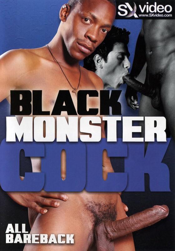 Black Monster Cock DVD - Front