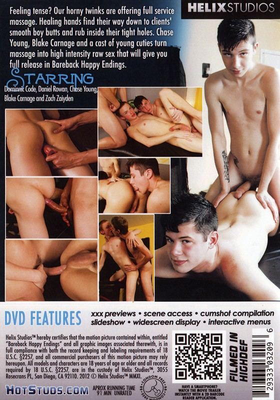 Bareback Happy Endings DVD - Back