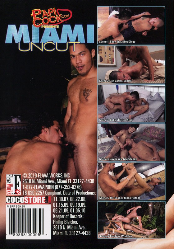 Miami Uncut DVD - Back