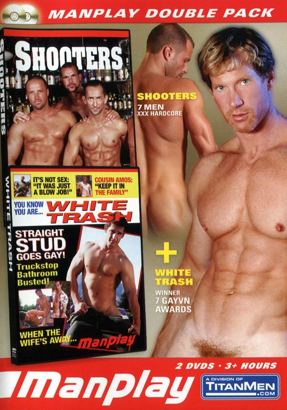 ManPlay Double Pack: Shooters & White Trash DVD - Front