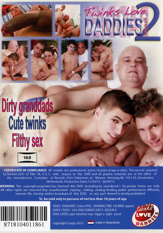 Twinks Love Daddies 2 DVD - Back