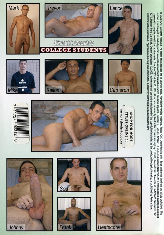 Straight Naughty College Students 7 DVD - Back