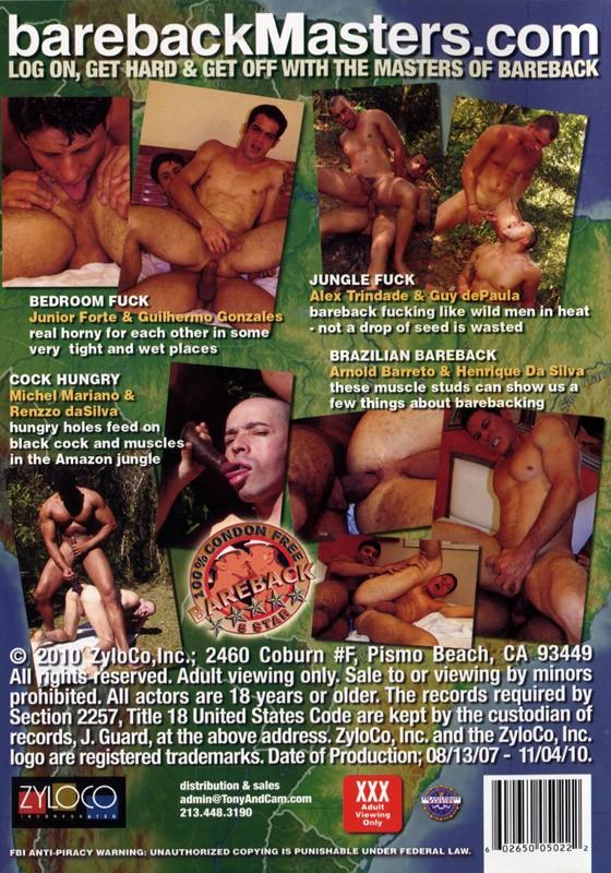 Bareback Brazilians DVD - Back