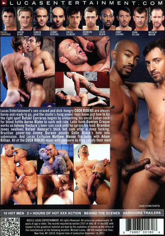 Cock Riders DVD - Back