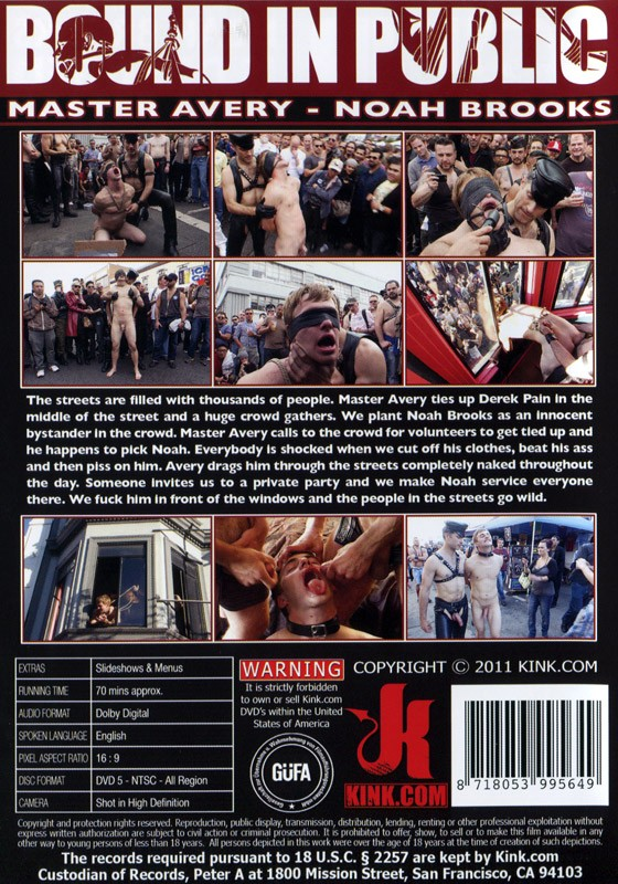 Bound In Public 2 DVD DISCONTINUED - Back