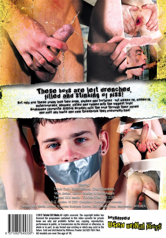 Boynapped 9: Used Urinal Boys DVD - Back