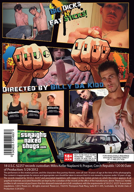 Straight Naked Thugs DVD - Back