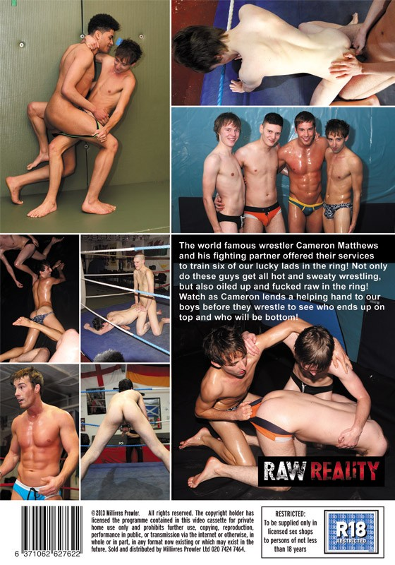 Raw Wrestling with Cameron Matthews DVD - Back