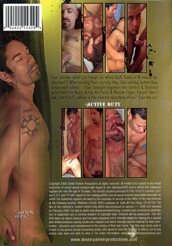 Active Duty DVD - Back
