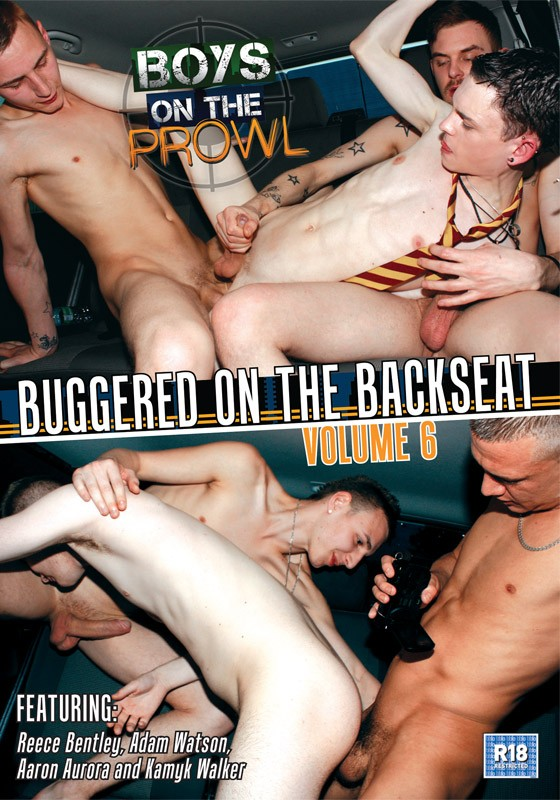 Boys On The Prowl 6: Buggered on the Backseat DVD - Front