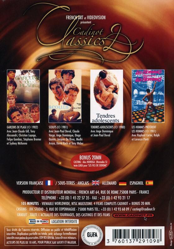 Cadinot Classics 2 DVD - Back