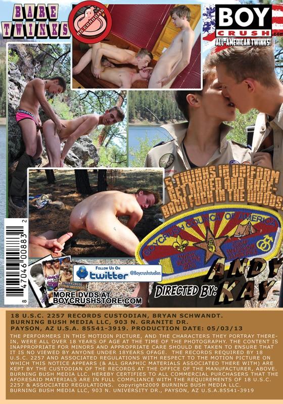 Twink Scouts! DVD - Back
