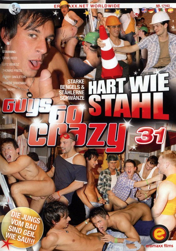 Guys Go Crazy 31: Construction Site Cocksuckers DVD - Front