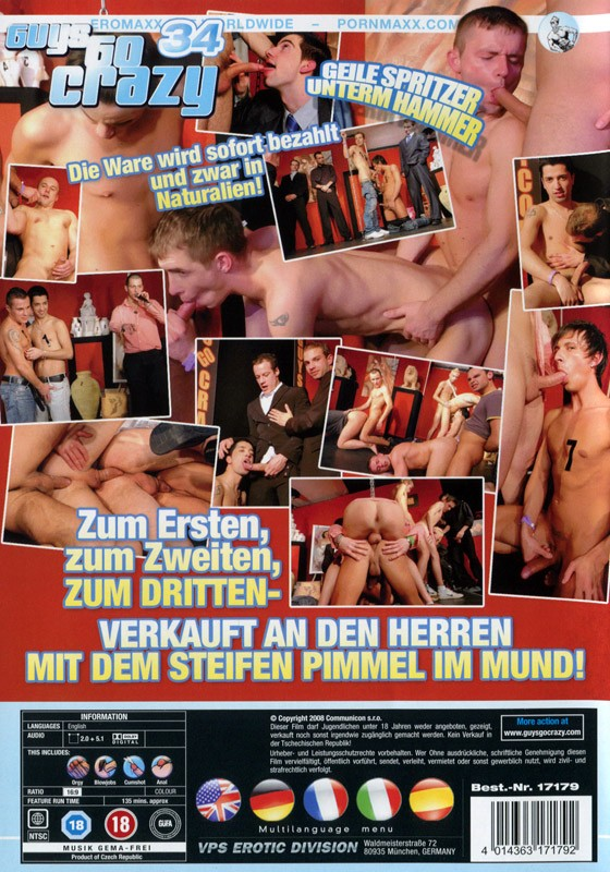 Guys Go Crazy 34: Ass Auction DVD - Back