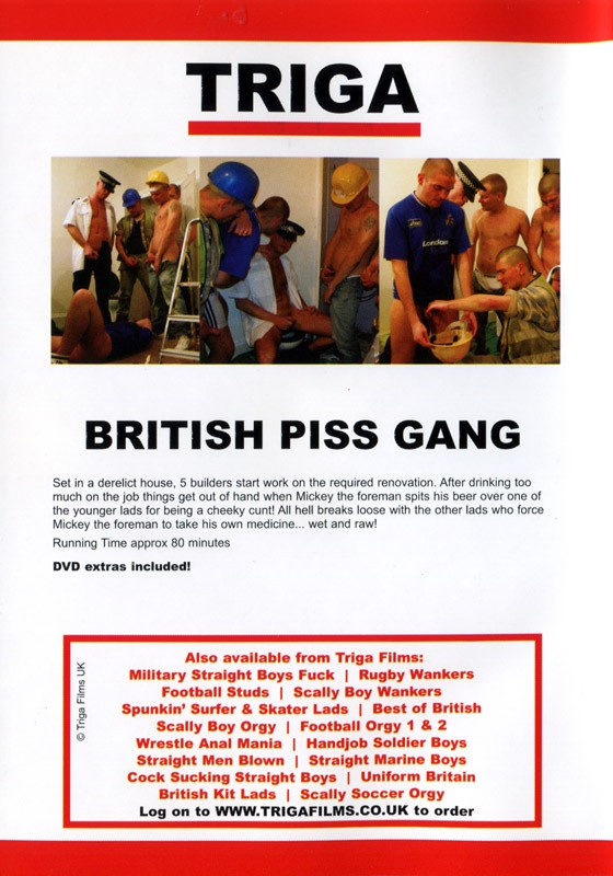 British Piss Gang DVD - Back
