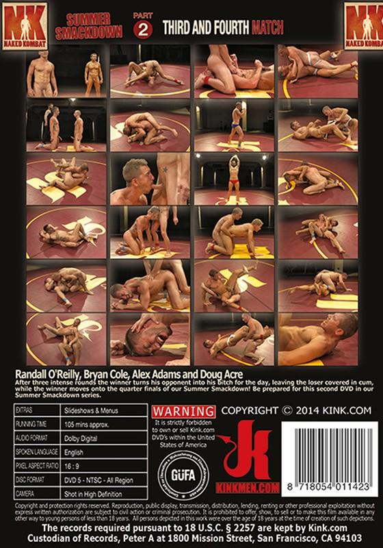 Naked Kombat 33 DVD (S) - Back